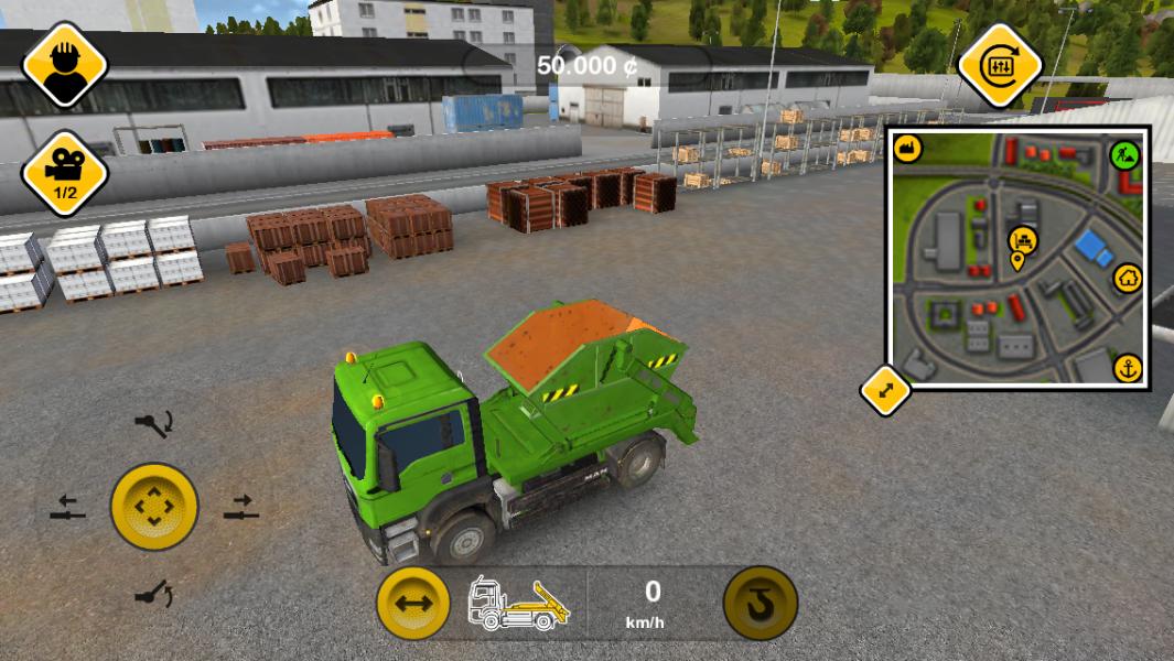 Bau simulator 2014 spieltest bagger kran oder lastwagen