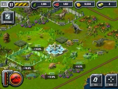 Platziere möglichst viele Dinos oder Gebäude in die Nähe von Dekorationen, um deren Produktivität zu steigern.