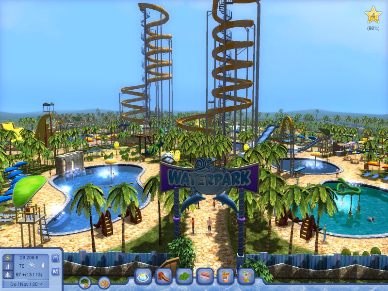 top news ab ins digitale freibad mit waterpark tycoon. Black Bedroom Furniture Sets. Home Design Ideas