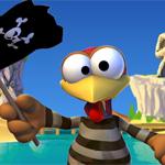 Crazy Chicken Pirates 3D News: Das Moorhuhn geht in die dritte Dimension