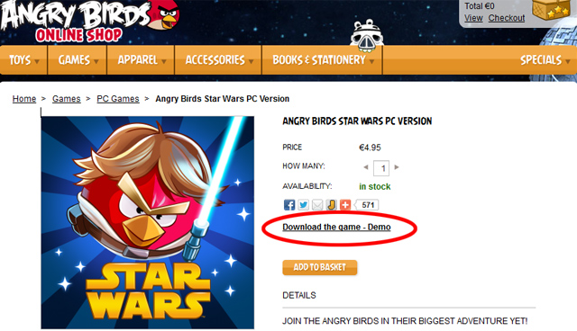 Angry Birds Star Wars PC Demo Download