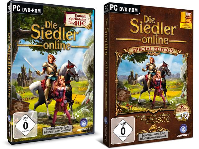 Die Siedler Online Standard Edition und Premium Edition