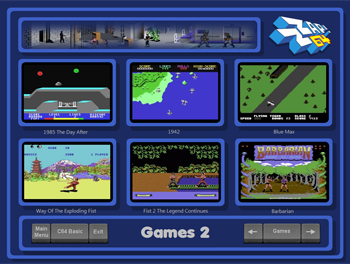 c64-arcade-launcher-screen
