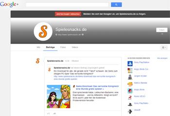 Spielesnacks.de bei Google+