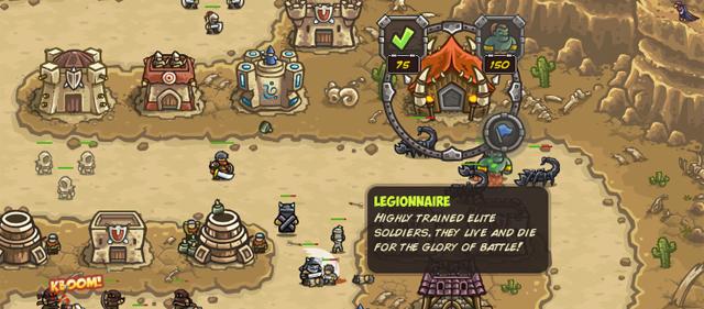 In vielen Levels gibt es einzigartige Spezial-Gebäude. Klickst du auf diese, kannst du beispielsweise Kanonen abfeuern oder besondere Einheiten rekrutieren.