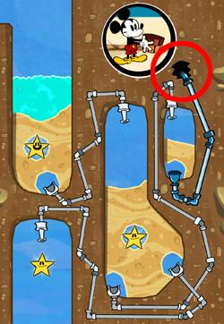 Oft gibt es komplizierte Rohr-Systeme, die teilweise ins Nichts führen. Tipp: Schaue zuerst auf das Ende (hier rot markiert) und verfolge dann den Weg des Rohres zurück.