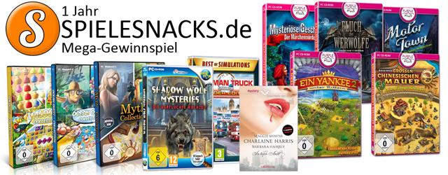 1 Jahr Spielesnacks.de Mega-Gewinnspiel