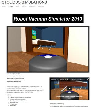 Robot Vacuum Simulator Webseite