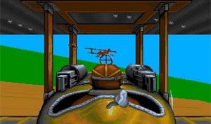 So sah das Flugspiel Wings damals auf dem Amiga aus.
