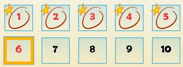Vor jedem Level siehst du deine bisherigen Arbeitstage und ob du da Sterne erhalten hast. Du kannst jedes Level beliebig oft wiederholen.