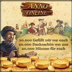 Anno Online: 20.000 Münzen als Geschenk