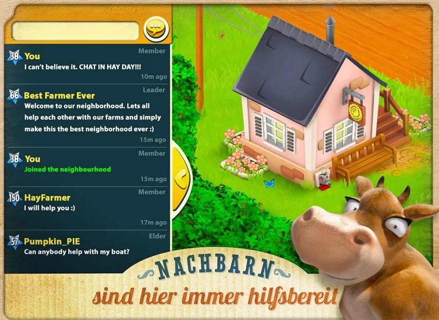 Eine gute Nachbarschaft ist nicht nur im realen Leben wichtig, sondern auch im virtuellen Hay Day!