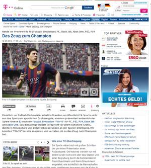 """Die Spieleredaktion von t-online.de sieht in FIFA 15 """"das Zeug zum Champion""""."""