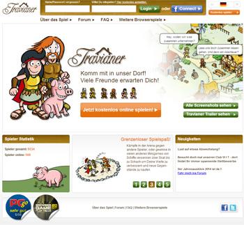 Die Webseite von Travianer. Noch ist sie online - aber nicht mehr lange!