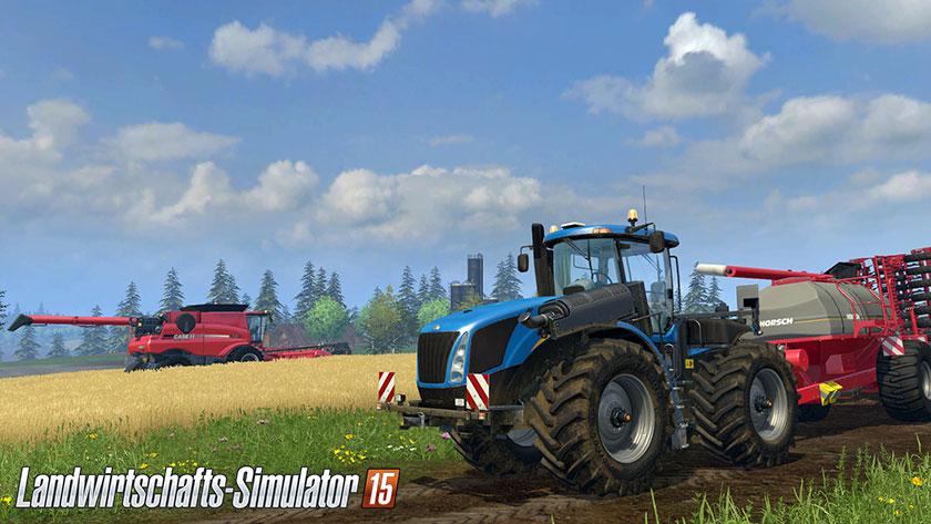 Gelbe Felder und grüne Wiesen - so kennt man den Landwirtschafts-Simulator seit eh und je.