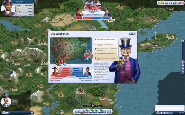 Das jüngste Szenario für das Browsergame Rail Nation: die USA.