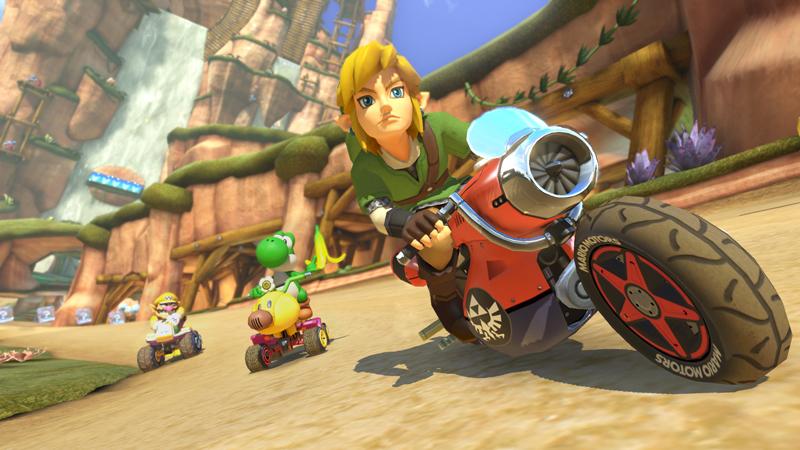 Ob Link auf seine geliebte Epona verzichten kann? Auf dem Motorrad macht er auf jeden Fall eine gute Figur.