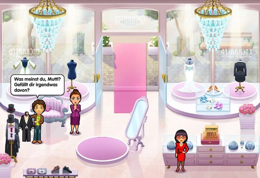 Wirst du das passende Kleid für Emily finden? Und schaffst du es, rechtzeitig ihre Hochzeit zu planen? Finde es unter anderem in der Emily und die Traumhochzeit-Demo heraus!