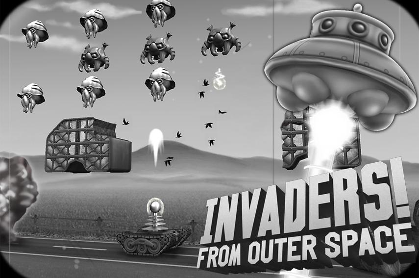 Na, kommt dir das Design von Invaders! From Outer Space irgendwie bekannt vor?