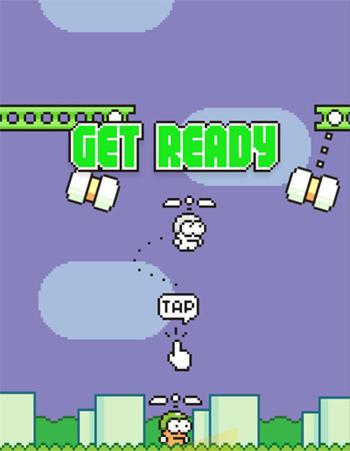 Swing Copters ist das neue Mobilsspiel des Flappy Bird-Erfinders Dong Nguyen.