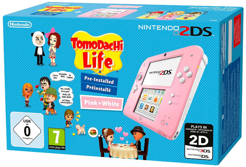 Spricht der neue 2DS mit Tomodachi Life eher Mädchen an weil er pink ist?