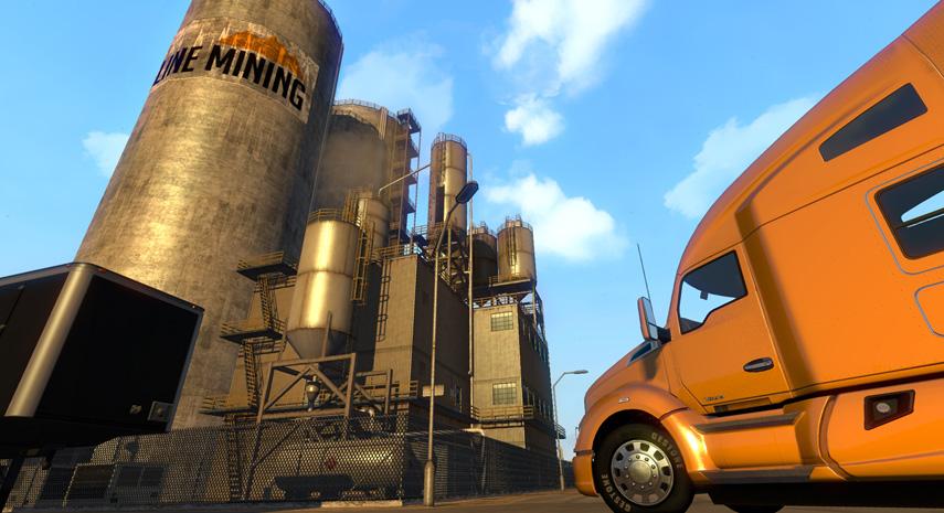 Aus dieser Perspektive sehen die eh schon großen Trucks noch beeindruckender aus.