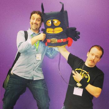 Unser Chefredakteur Jürgen traf auf der Gamescom Bernd das Brot und seine Schöpfer.