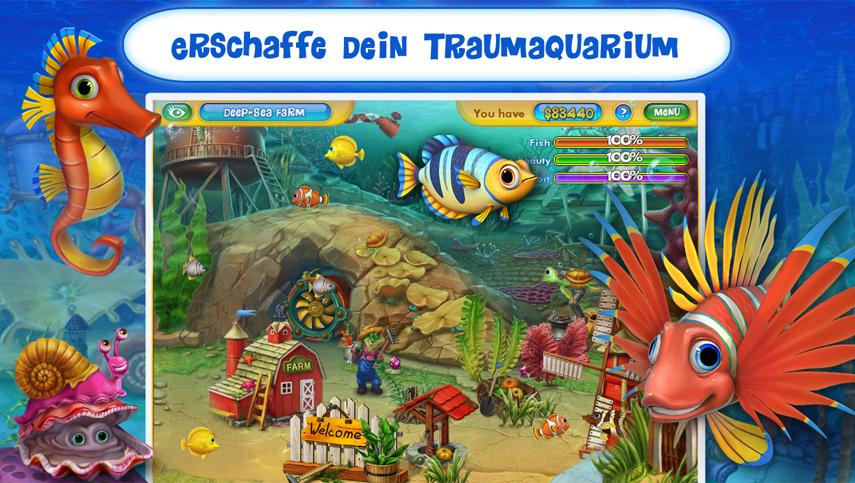 Demo-Download: Fishdom 2 kannst du auf deinem Android-Gerät kostenlos testen.