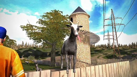 So sieht die mobile Fassung von Goat Simulator aus. Schick.