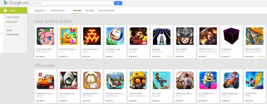 Im Google Play Store, in dem man Apps für Android-Geräte herunterlädt, konnten Kinder ohne Kontrolle einkaufen.