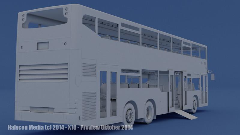 """Die """"nackte"""" Wahrheit: Diesen Bus wird es im OMSI X10 Add-On geben. Allerdings fehlt noch die Oberfläche, fachsprachlich Textur genannt."""
