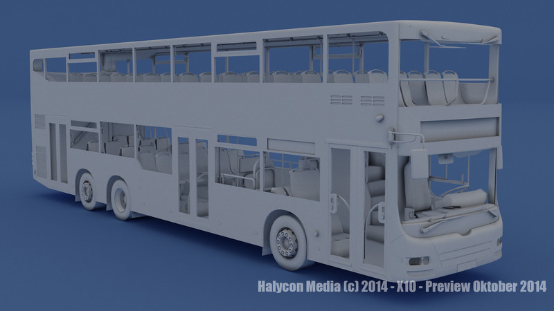 Wie das Bus-Modell in der OMSI X10-Erweiterung wohl mit farbigen Texturen aussieht? Das werden wir hoffentlich bald erfahren.