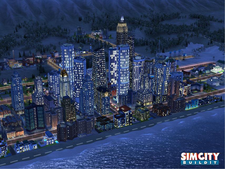 Auch des nachts kümmerst du dich in SimCity BuildIt um das Wohlergehen der Bürger deiner Stadt.