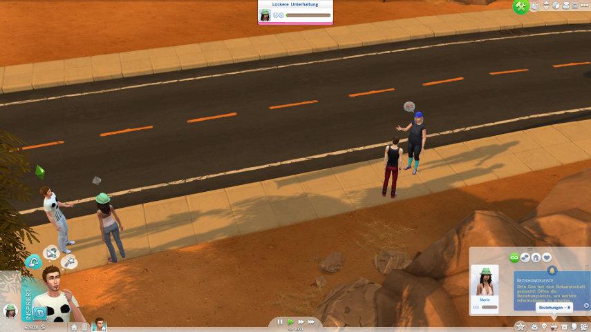 Deine Sims lernen jede Menge Nachbarn kennen. Auch hier machen sich die Emotionen bemerkbar.