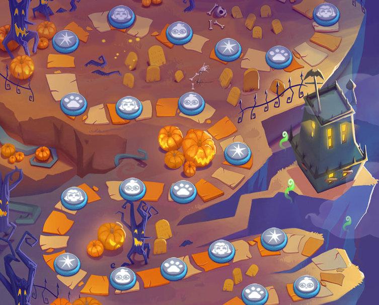 20 neue schaurig schöne Level erwarten dich im Halloween-Update.