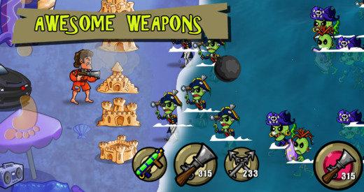 Jede Menge Waffen stehen David zur Verfügung, um die Zombies zurückzudrängen.