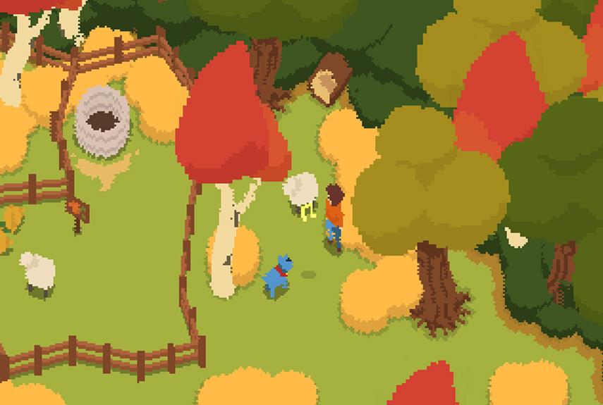 Ein Hund, viele Hasen und Schafe, ein hungriger Bär und Lisa. So beginnt das Freeware-Game.