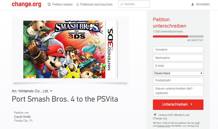 Super Smash Bros. soll für die Playstation Vita umgesetzt werden. Ein Scherz? Oder ist das ernst gemeint?