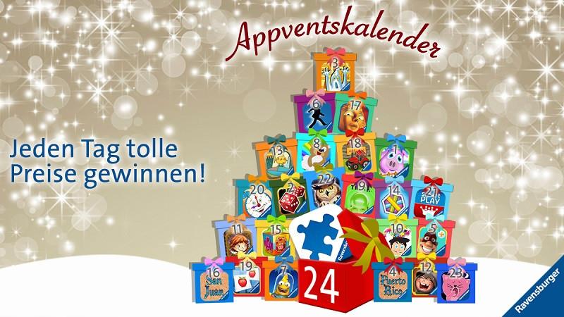 Der Ravensburger Appventskalender wartet mit vielen Preisen für Freunde des mobilen Spielens.
