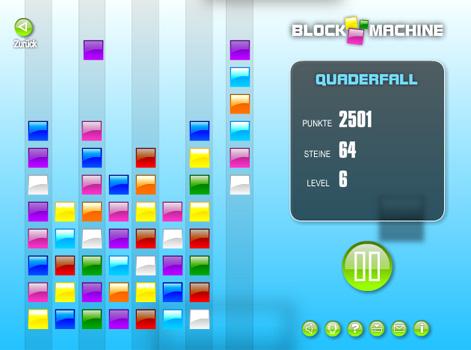 Quaderfall mixt Match-3 mit Tetris, wodurch eine interessantes, neues Spielprinzip entsteht.