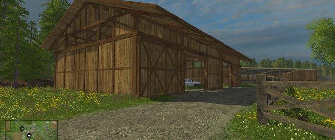 Hier siehst du neue Hallen, die du auf deinem Bauernhof aufstellen kannst.