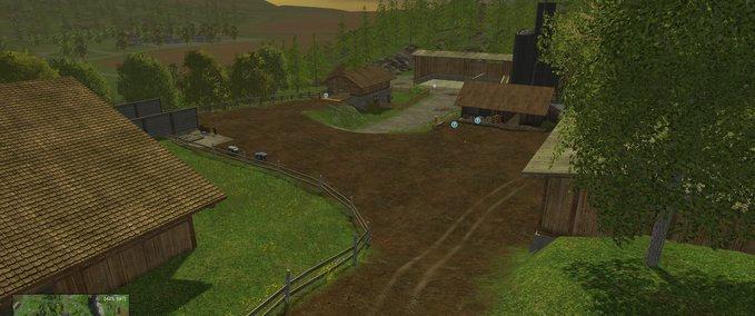 Landwirtschaft am Wasserfall - auf der Karte Bergholm 2.0 ist das möglich.