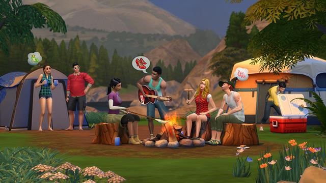 Am Lagerfeuer sitzen, Gitarre spielen und dabei über Schuhe reden - das wird das neue Die Sims 4-Add-On bieten.