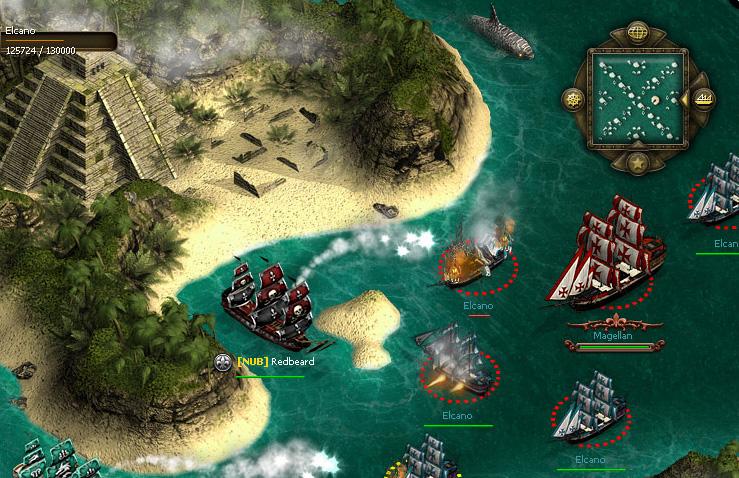 So viel Action gibt es nicht immer in Seafight - zum Beispiel, wenn aufgrund von Serverausfällen das Browsergame streikt.