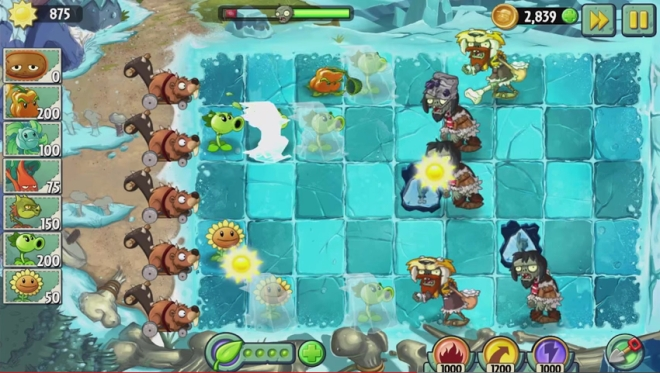 Plants vs Zombies 2 Frostbite Caves