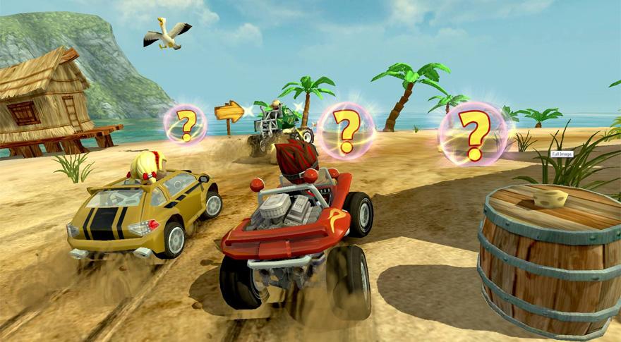 Sieht sympathisch aus und macht jede Menge Spaß: Beach Buggy Racing