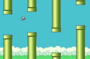 Flappy Bird - hier in einer inoffiziellen Umsetzung für den PC - wie es leibt und lebt.