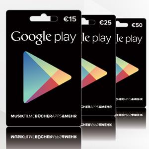 Eine gute Möglichkeit, um an Guthaben zu kommen: die Google Play-Karten.
