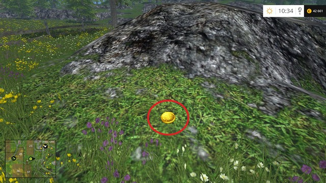 Im LaWiSim 15 findest du in der Landschaft verteilt Goldmünzen (Bild: Gamepressure.com)