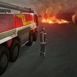 Frische Bilder zum neuen Flughafen-Feuerwehr-Simulator veröffentlicht